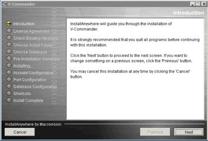 vCommandar Install