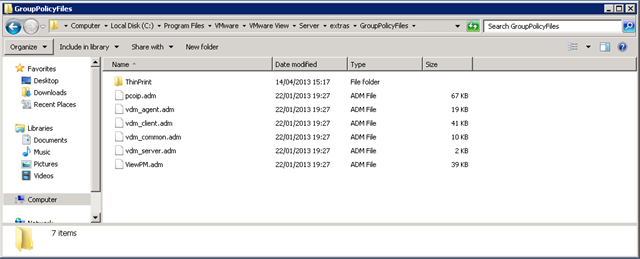 Vmware view group policy templates virtualised reality im not going to teach you all how to suck eggs here but you will obviously want to create a group policy to deploy these templates against your view pronofoot35fo Gallery