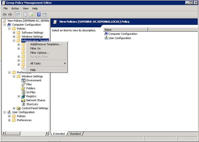 Vmware view group policy templates virtualised reality you can then browse to the admin templates and add them to your gpo pronofoot35fo Gallery