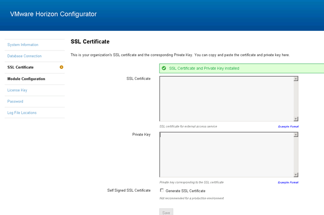 Installing a wildcard certificate with Horizon Workspace
